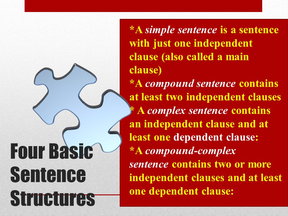 Four Basic Sentence Structures
