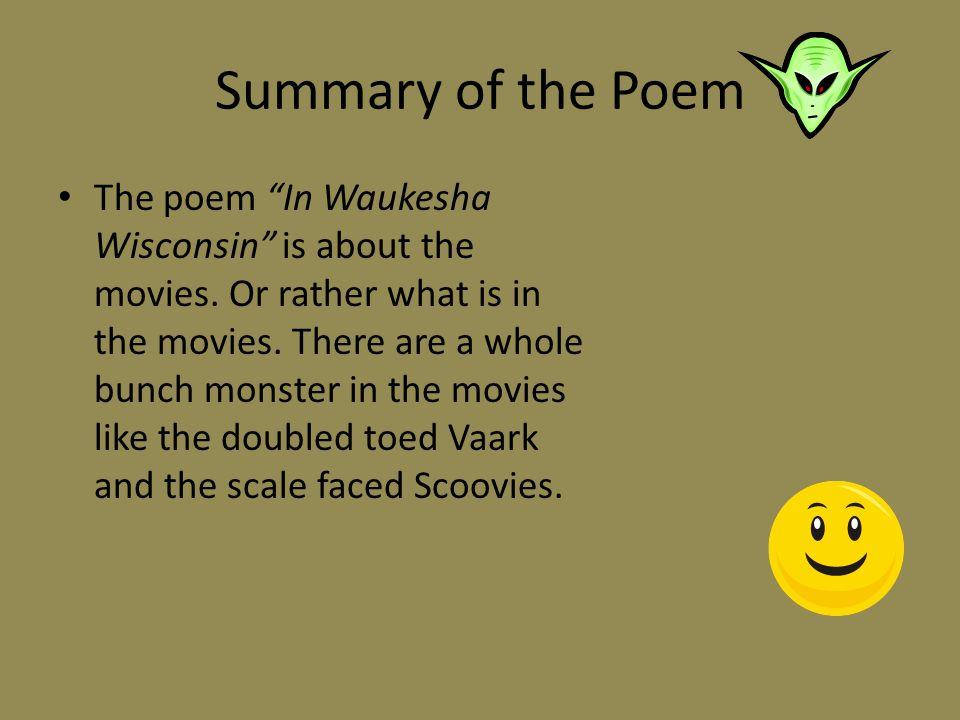 Summary of the Poem