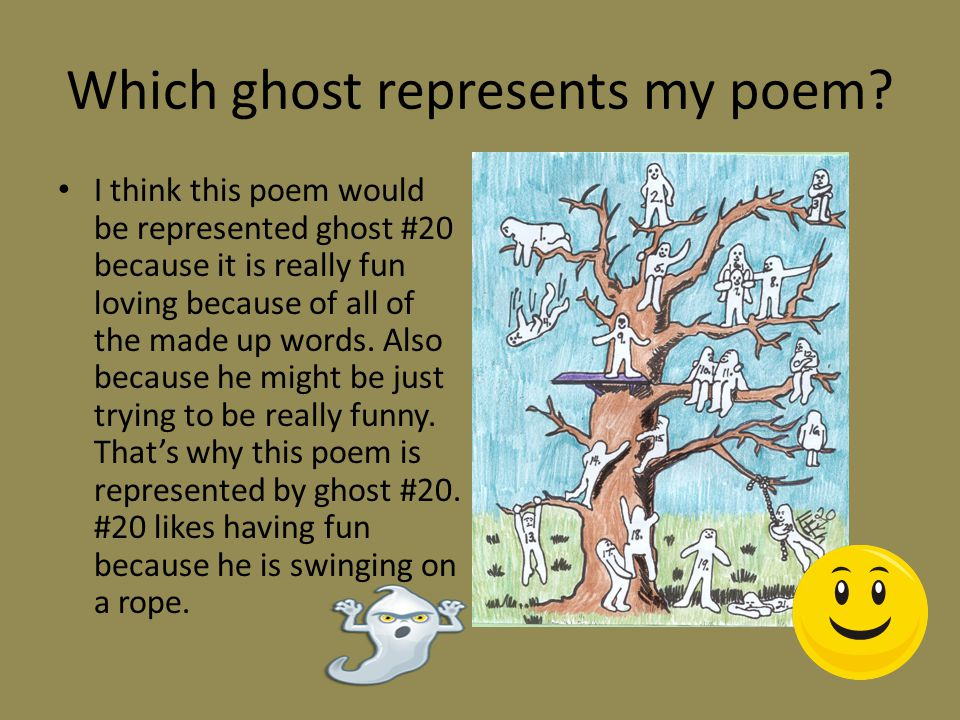 Which ghost represents my poem