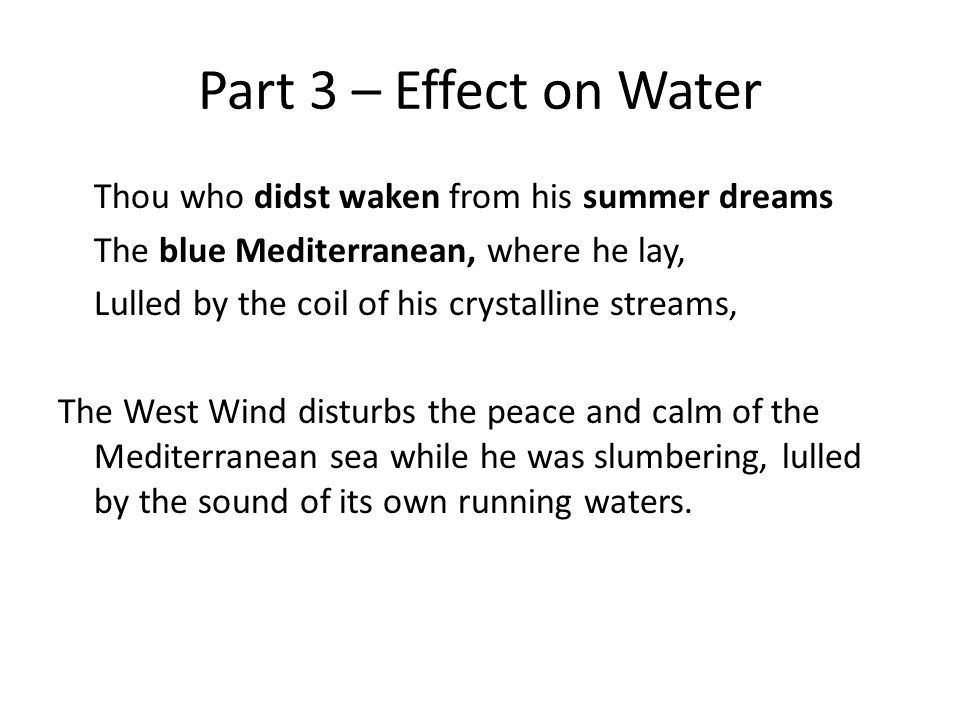 Part 3 – Effect on Water