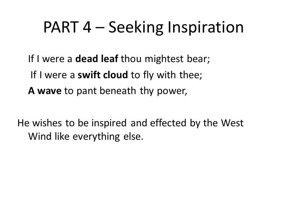 PART 4 – Seeking Inspiration