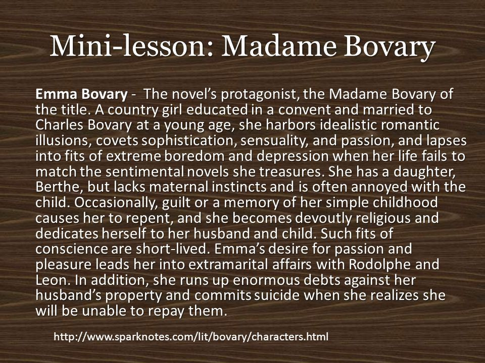 Mini-lesson: Madame Bovary