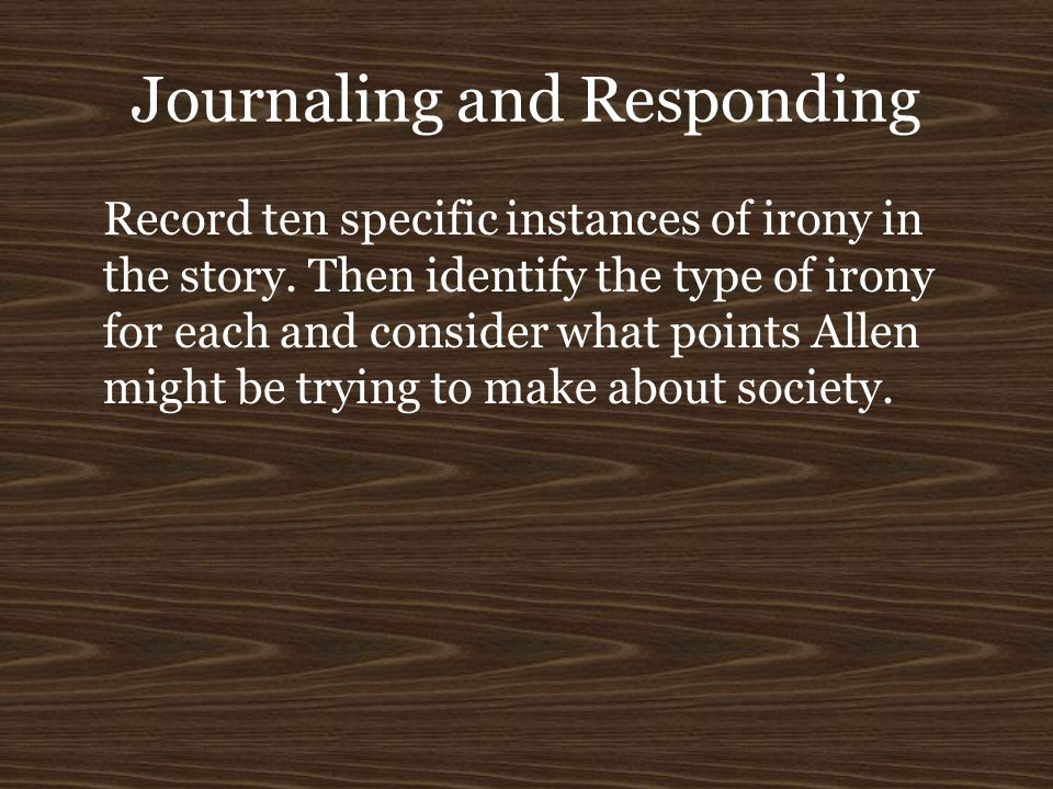 Journaling and Responding