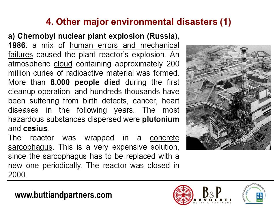 4. Other major environmental disasters (1)