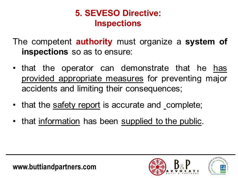 5. SEVESO Directive: Inspections