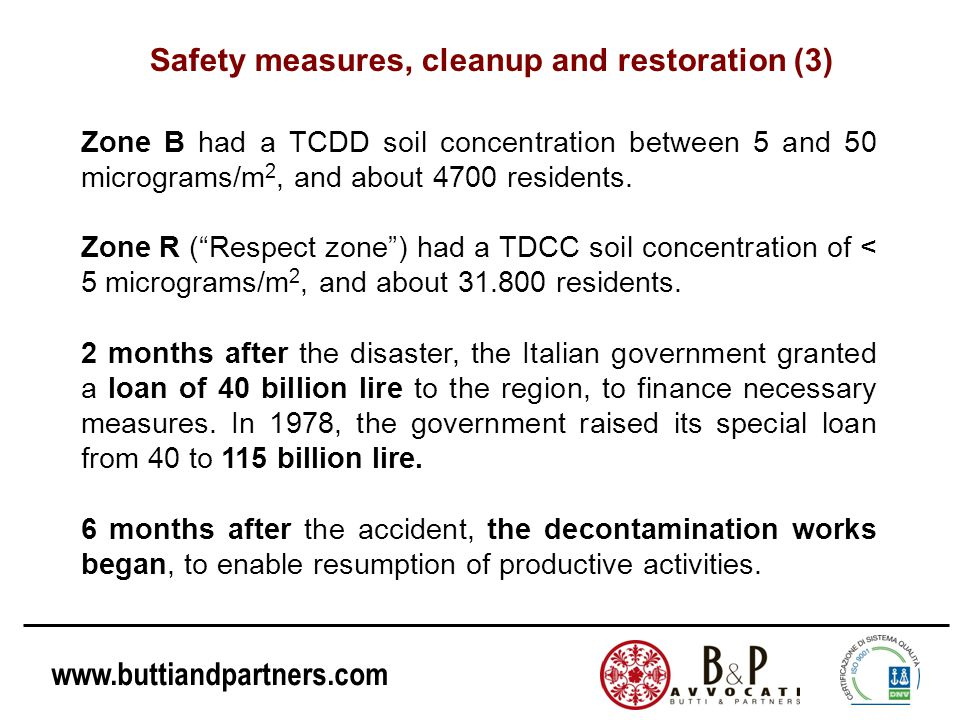 Safety measures, cleanup and restoration (3)