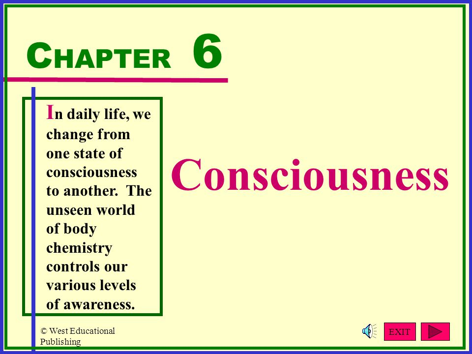 Consciousness CHAPTER 6