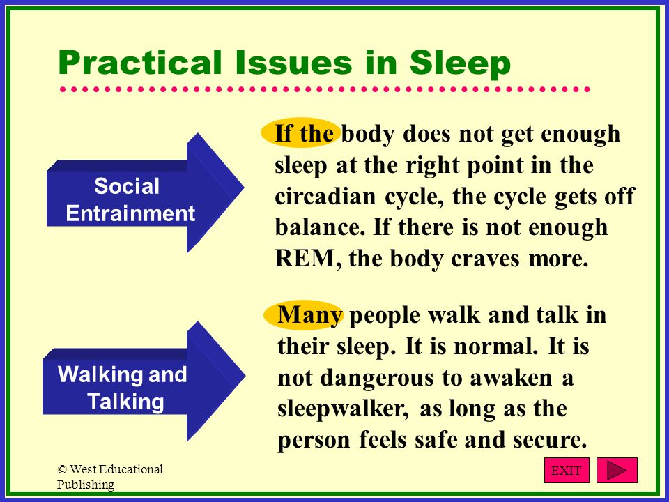 Practical Issues in Sleep