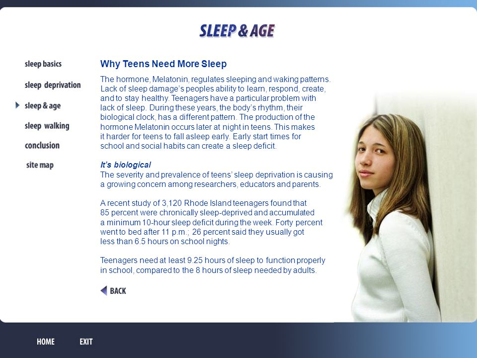 Why Teens Need More Sleep