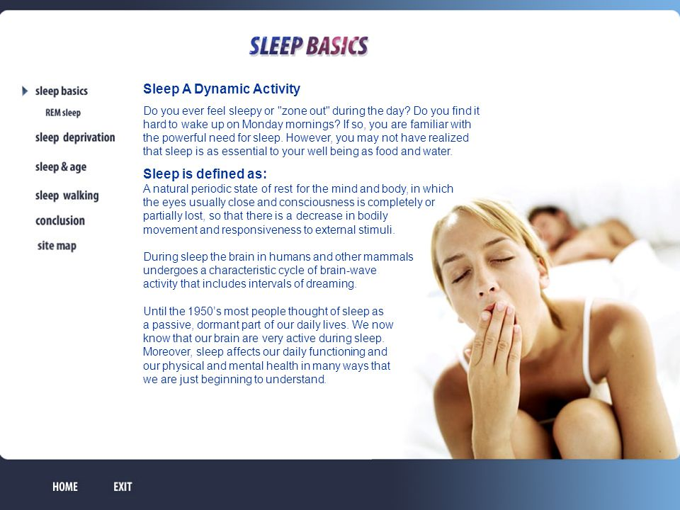 Sleep A Dynamic Activity