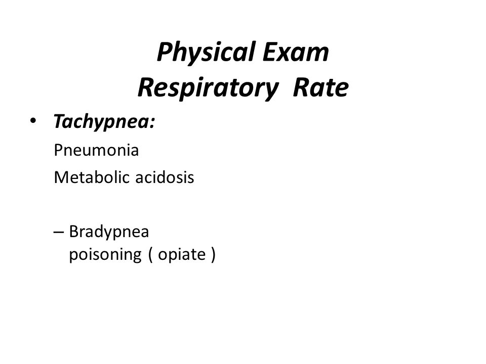 Physical Exam Respiratory Rate