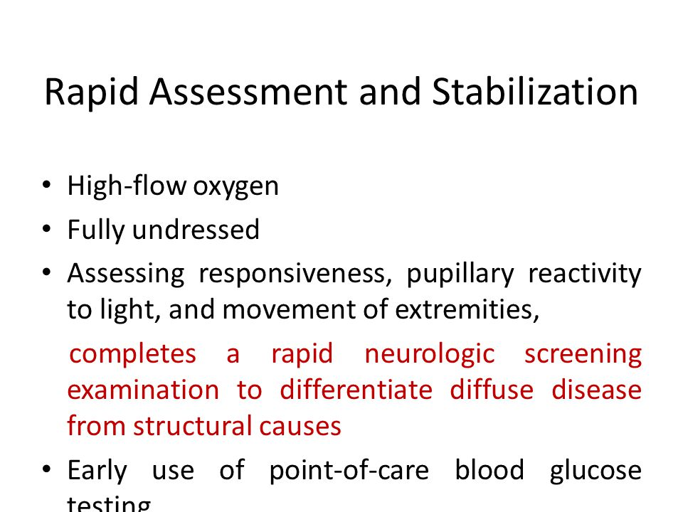 Rapid Assessment and Stabilization