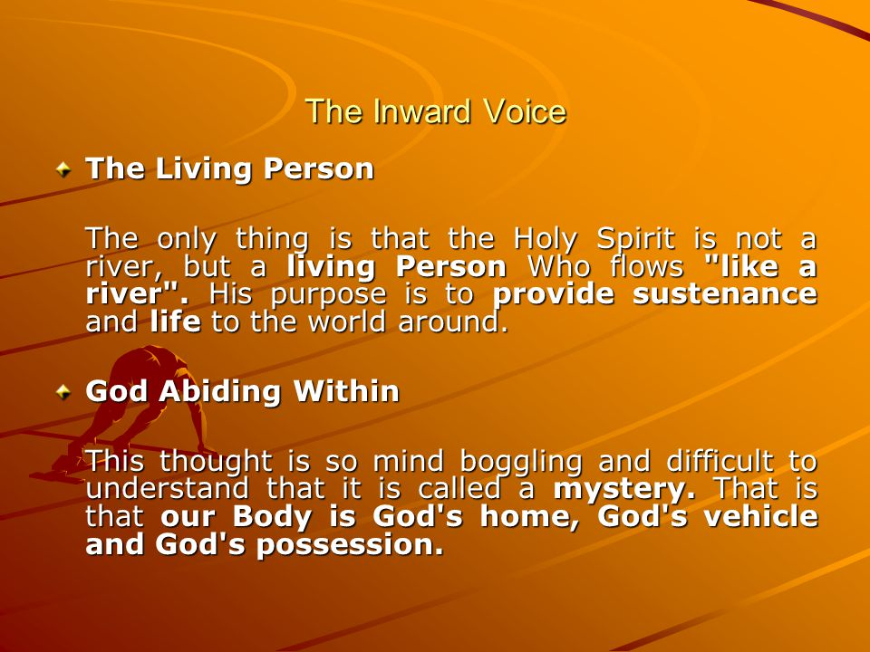 The Inward Voice The Living Person