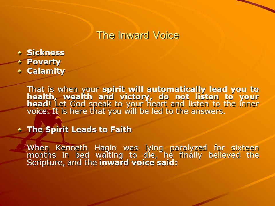 The Inward Voice Sickness Poverty Calamity