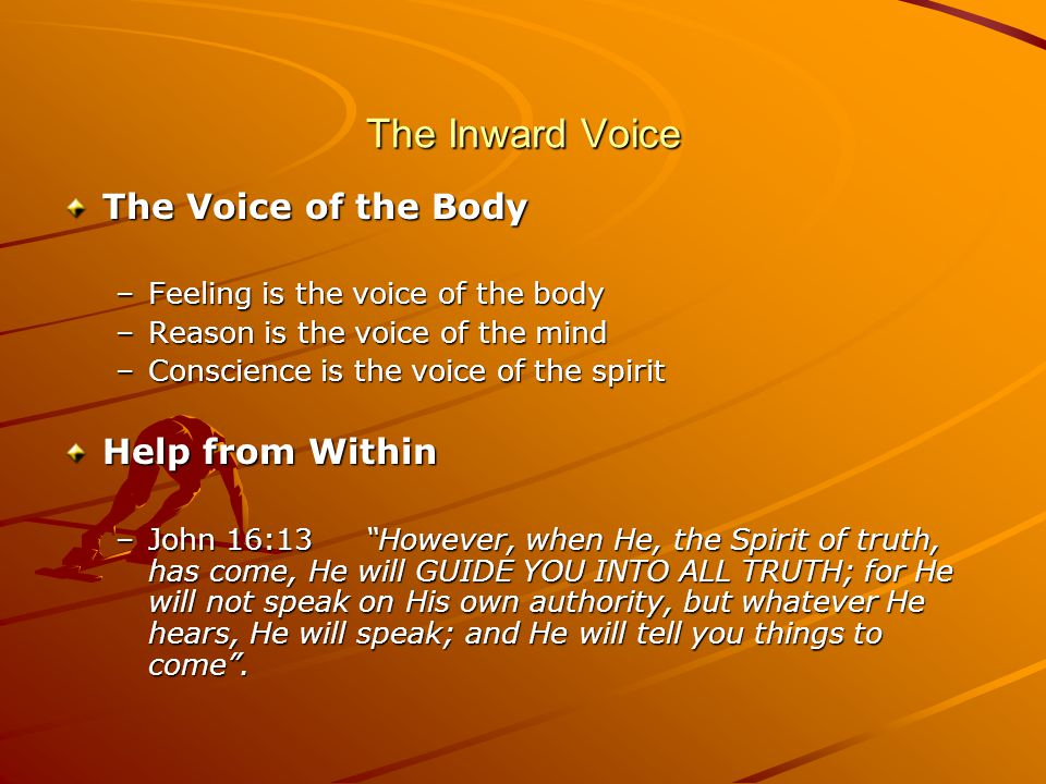 The Inward Voice The Voice of the Body Help from Within