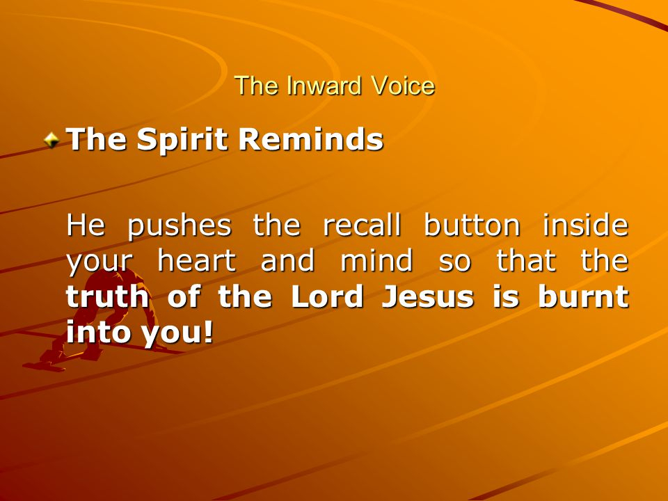 The Inward Voice The Spirit Reminds.