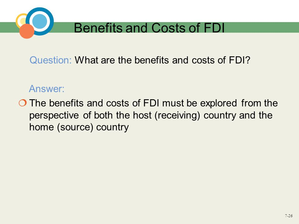 advantages regarding fdi on your home and additionally coordinate country