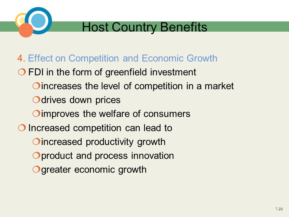 Host Country Benefits 4. Effect on Competition and Economic Growth
