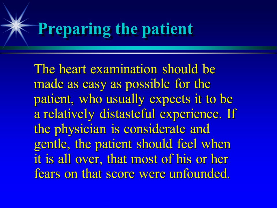 Preparing the patient
