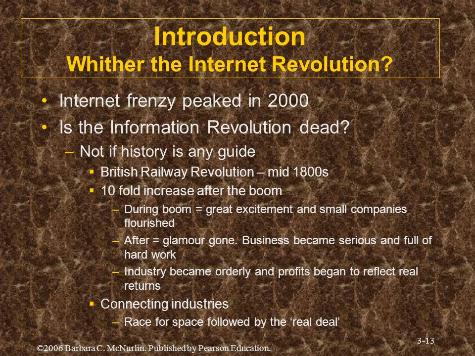 Introduction Whither the Internet Revolution
