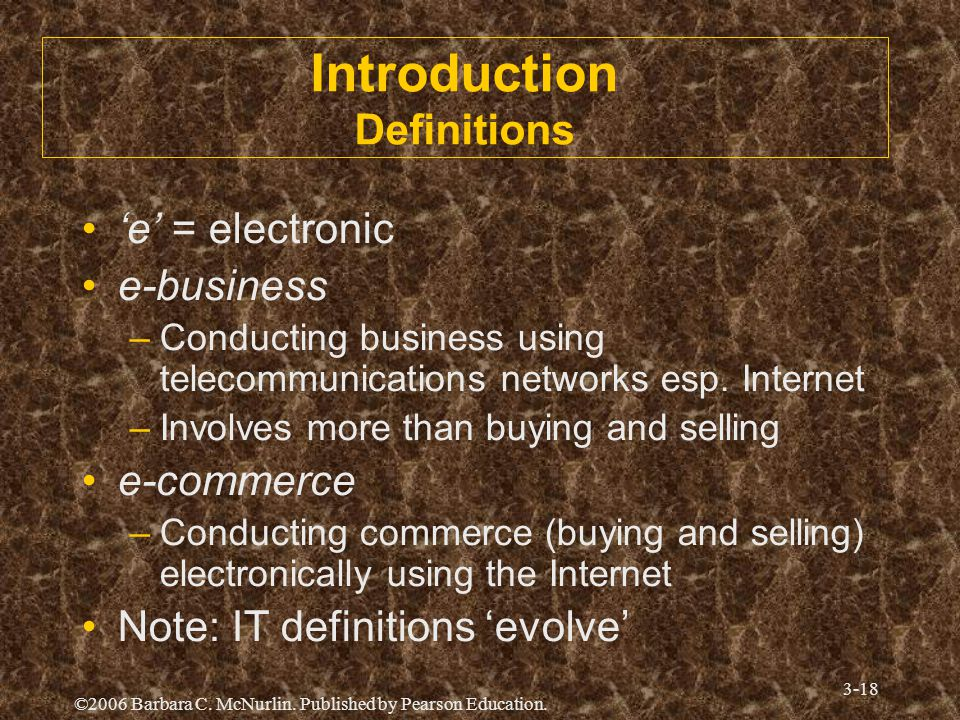 Introduction Definitions