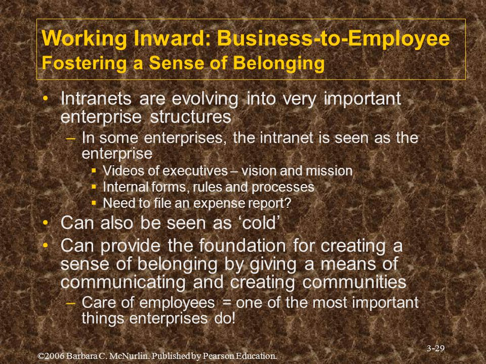 Working Inward: Business-to-Employee Fostering a Sense of Belonging