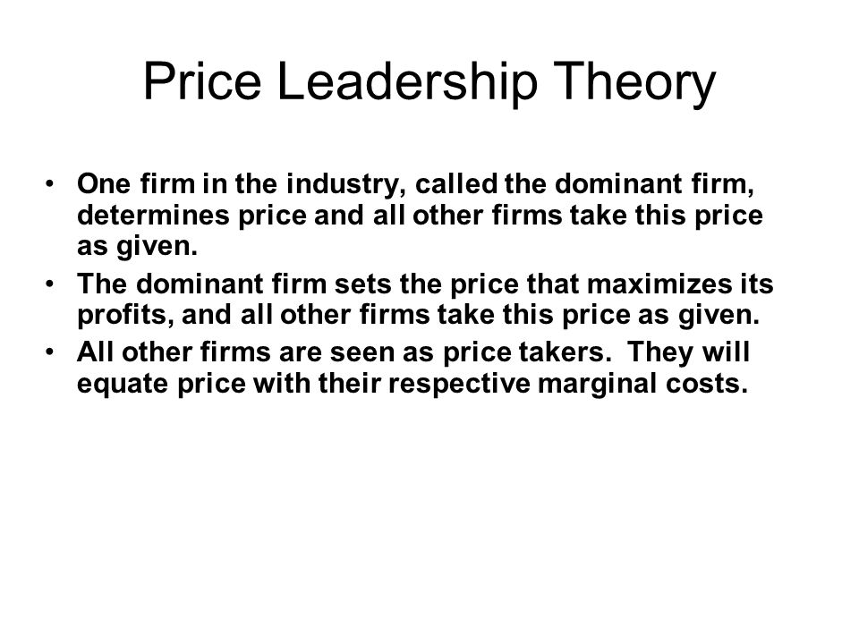 Price Leadership Theory