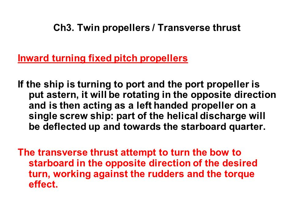 Ch3. Twin propellers / Transverse thrust