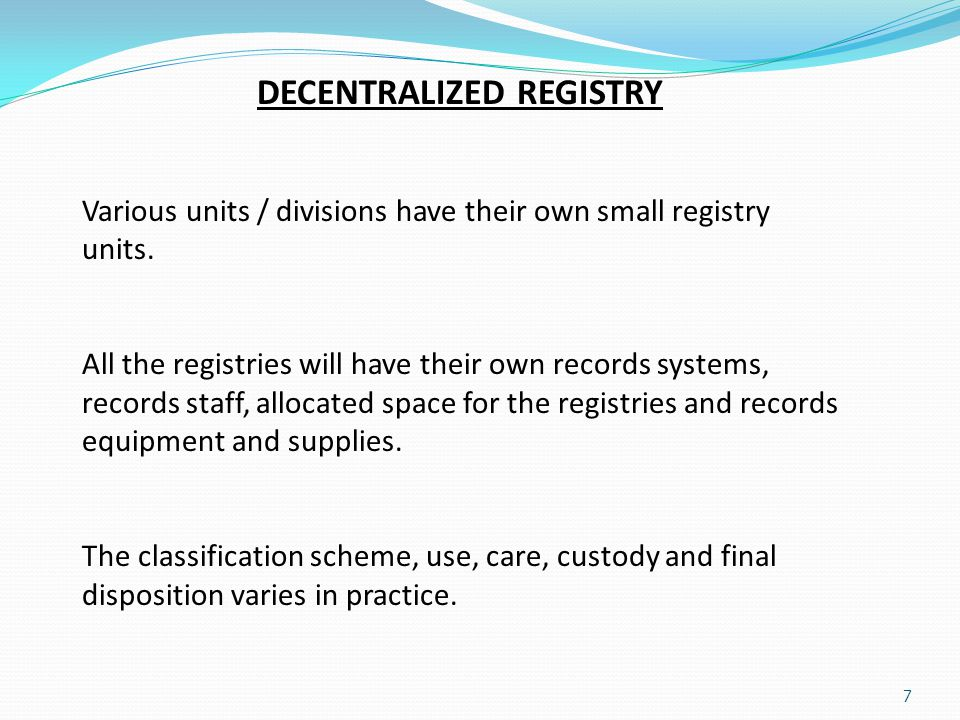 DECENTRALIZED REGISTRY