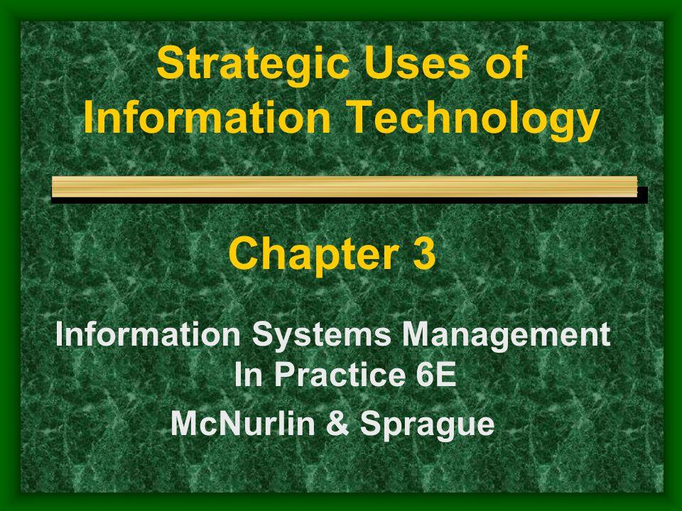 Strategic Uses of Information Technology