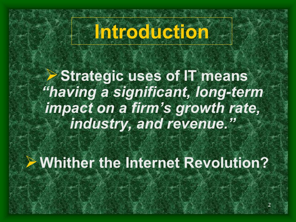 Whither the Internet Revolution