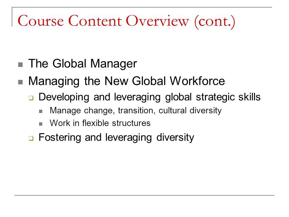 Course Content Overview (cont.)