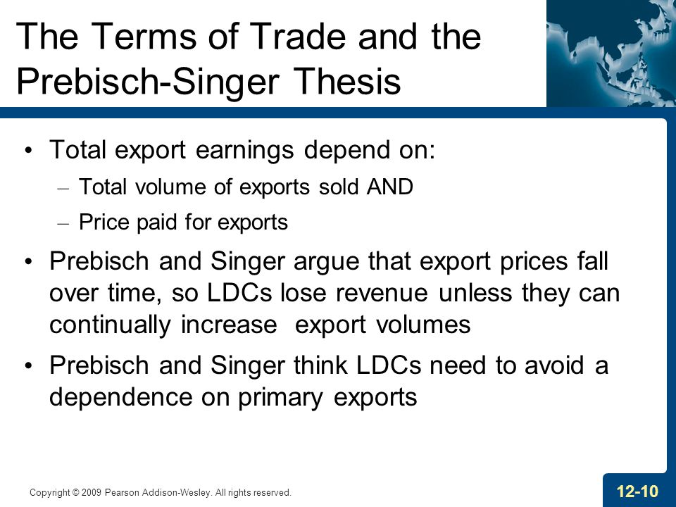 The Terms of Trade and the Prebisch-Singer Thesis