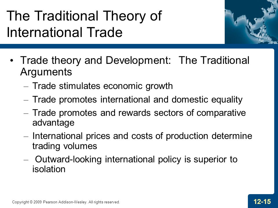 The Traditional Theory of International Trade