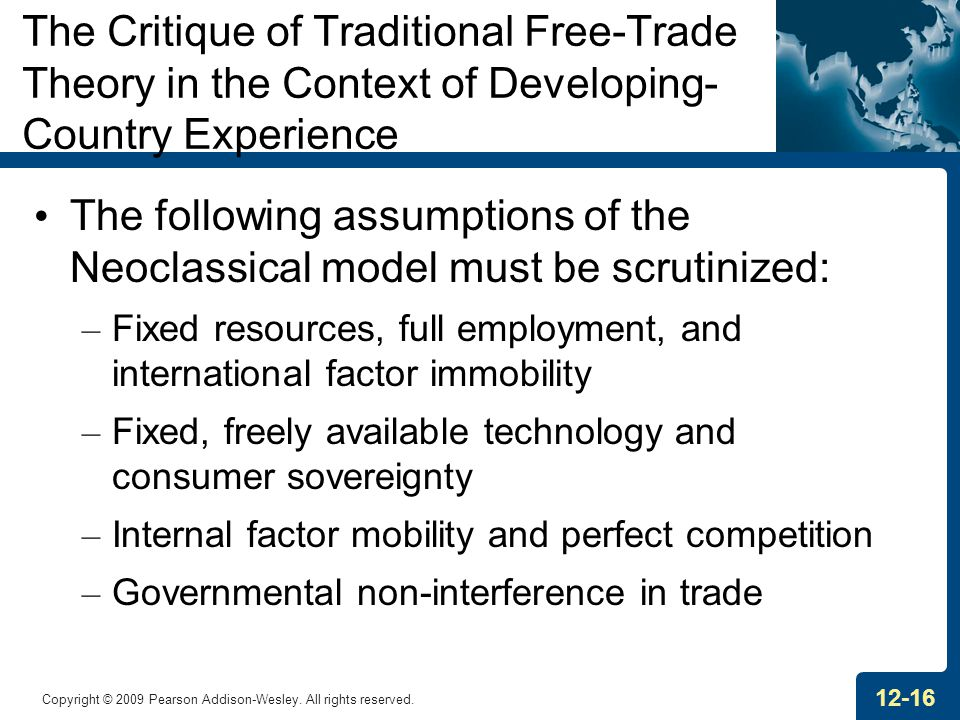 The Critique of Traditional Free-Trade Theory in the Context of Developing-Country Experience