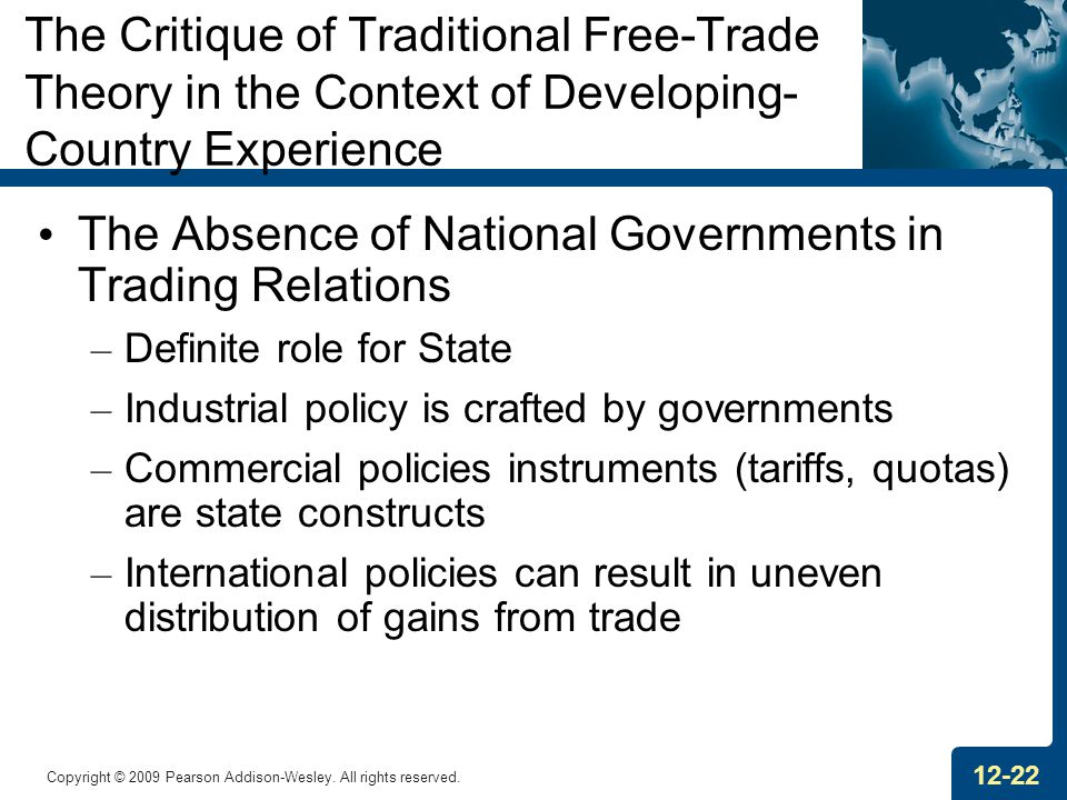 The Absence of National Governments in Trading Relations