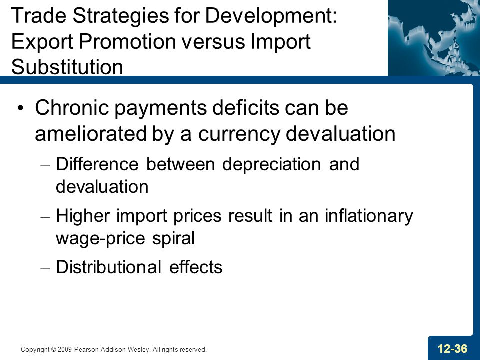 Chronic payments deficits can be ameliorated by a currency devaluation