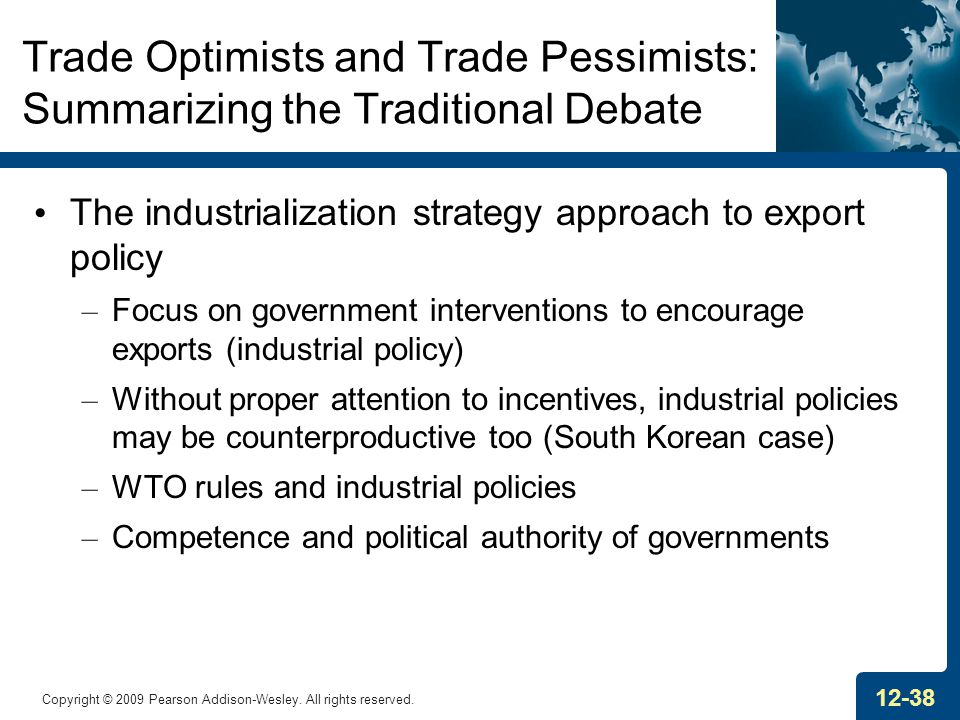 Trade Optimists and Trade Pessimists: Summarizing the Traditional Debate