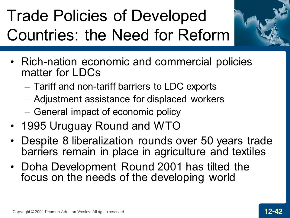 Trade Policies of Developed Countries: the Need for Reform