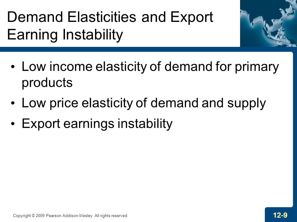 Demand Elasticities and Export Earning Instability
