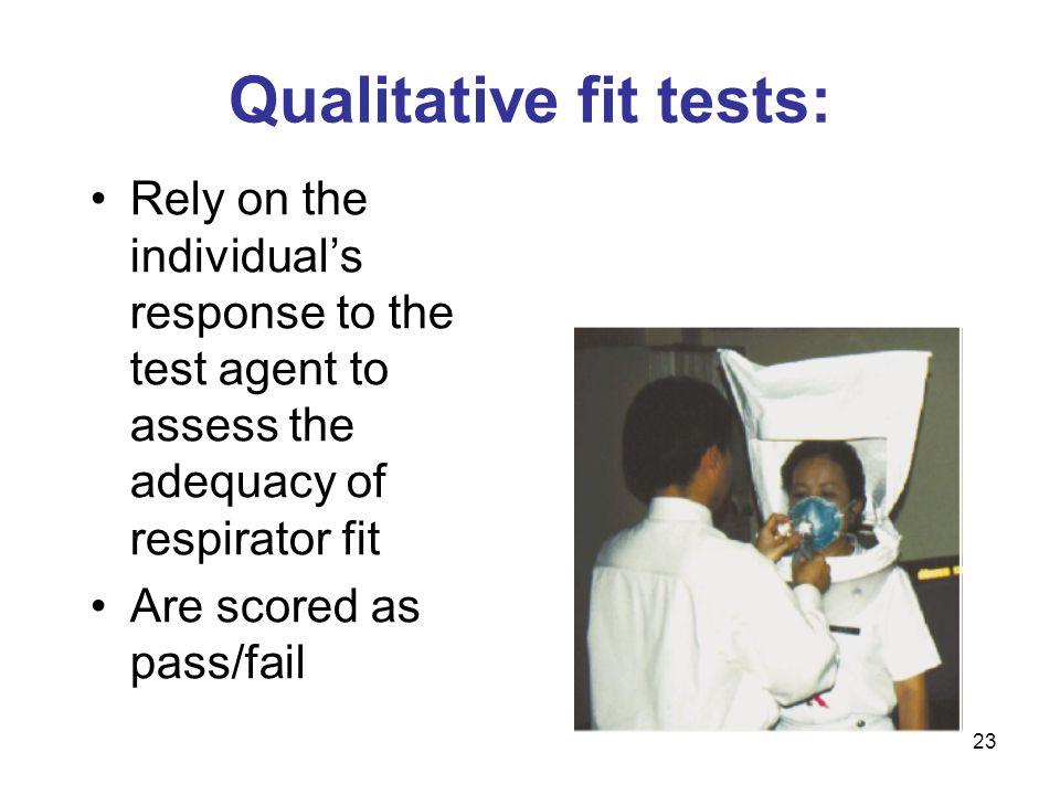 Qualitative fit tests: