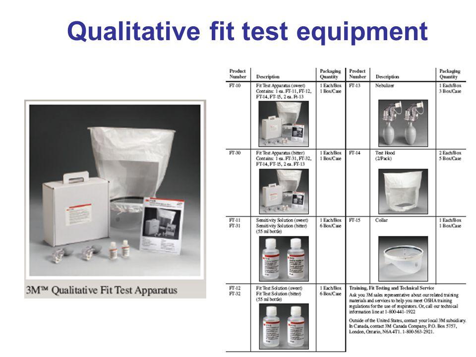 Qualitative fit test equipment