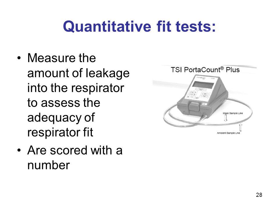 Quantitative fit tests: