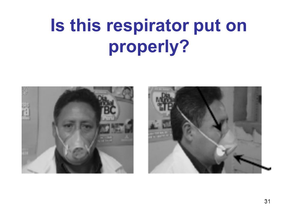 Is this respirator put on properly