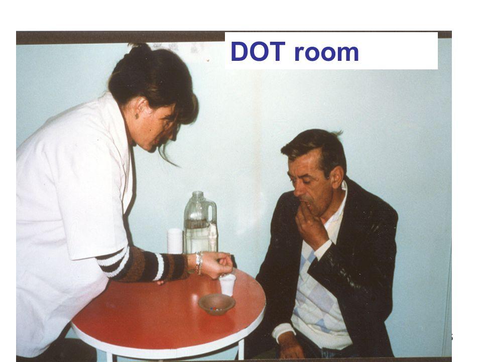 DOT room Does this nurse providing DOT need respiratory protection