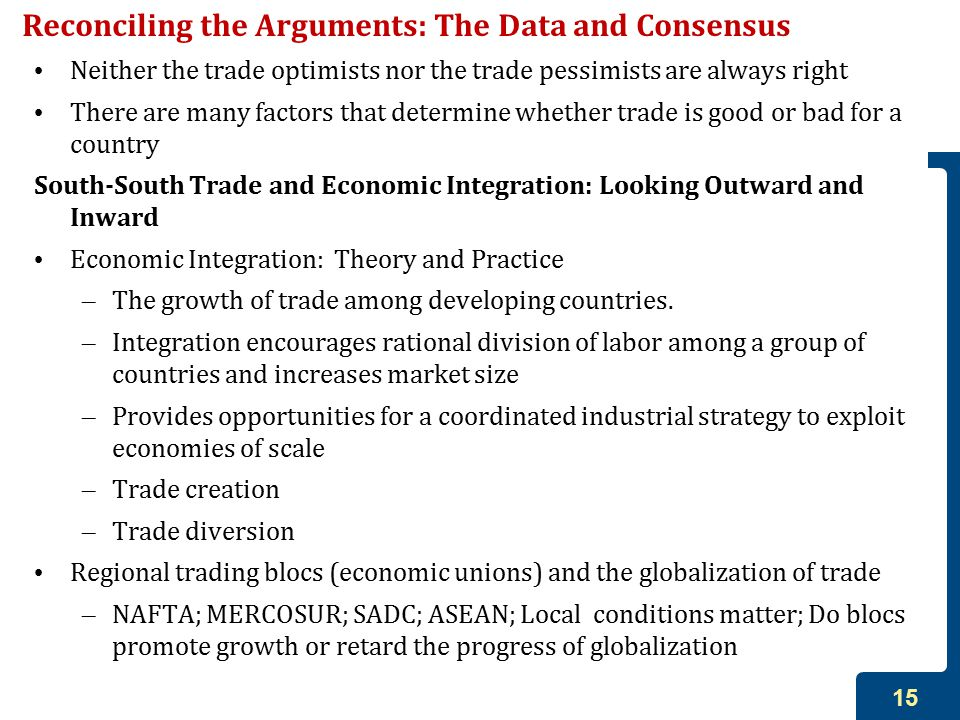 Reconciling the Arguments: The Data and Consensus