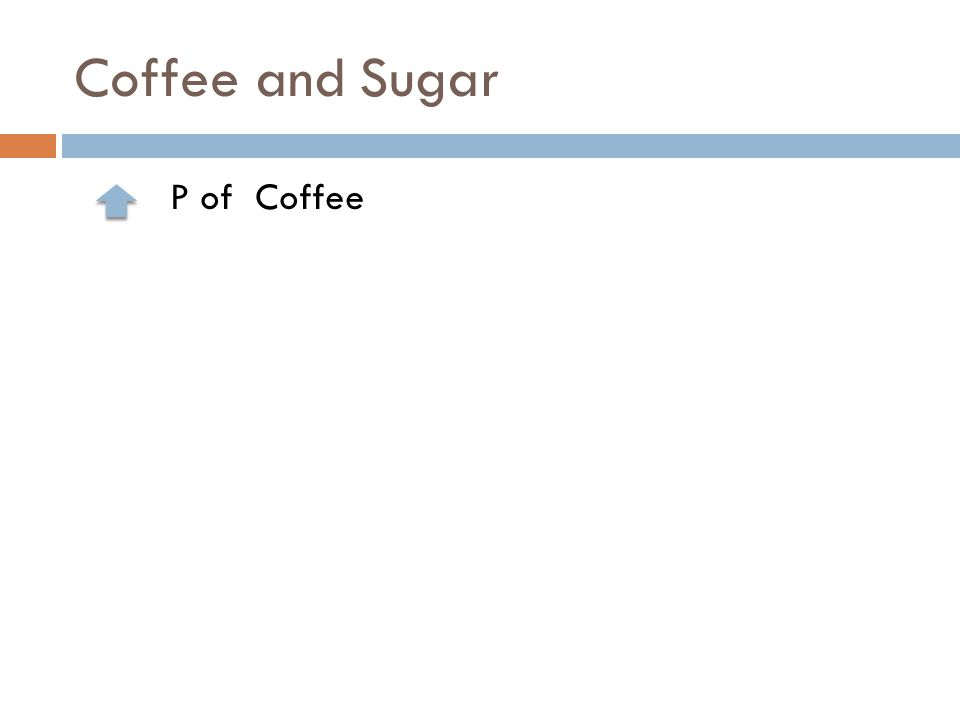 Coffee and Sugar P of Coffee
