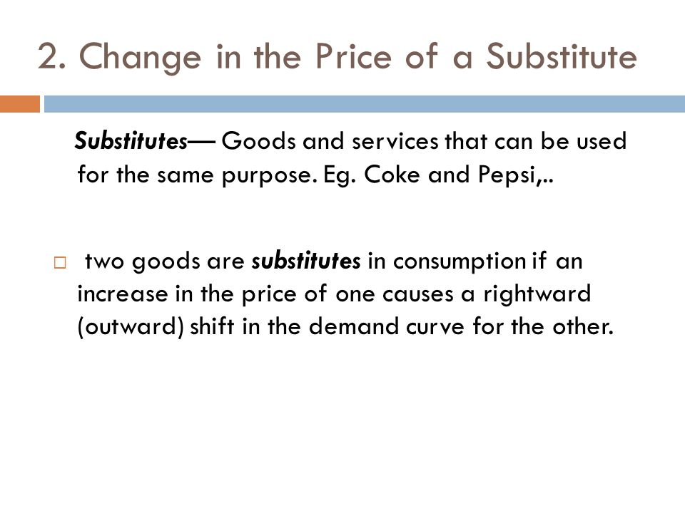 2. Change in the Price of a Substitute