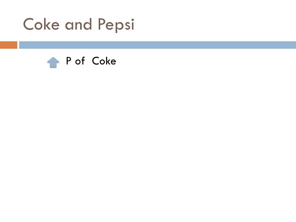 Coke and Pepsi P of Coke