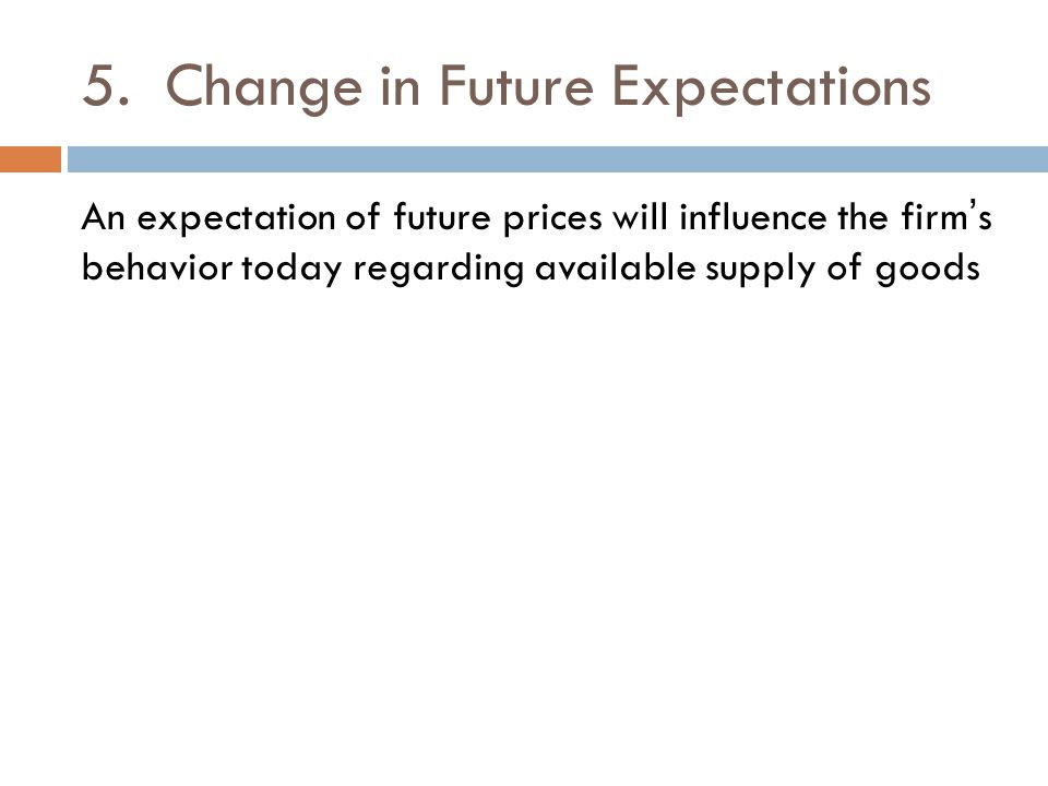 5. Change in Future Expectations
